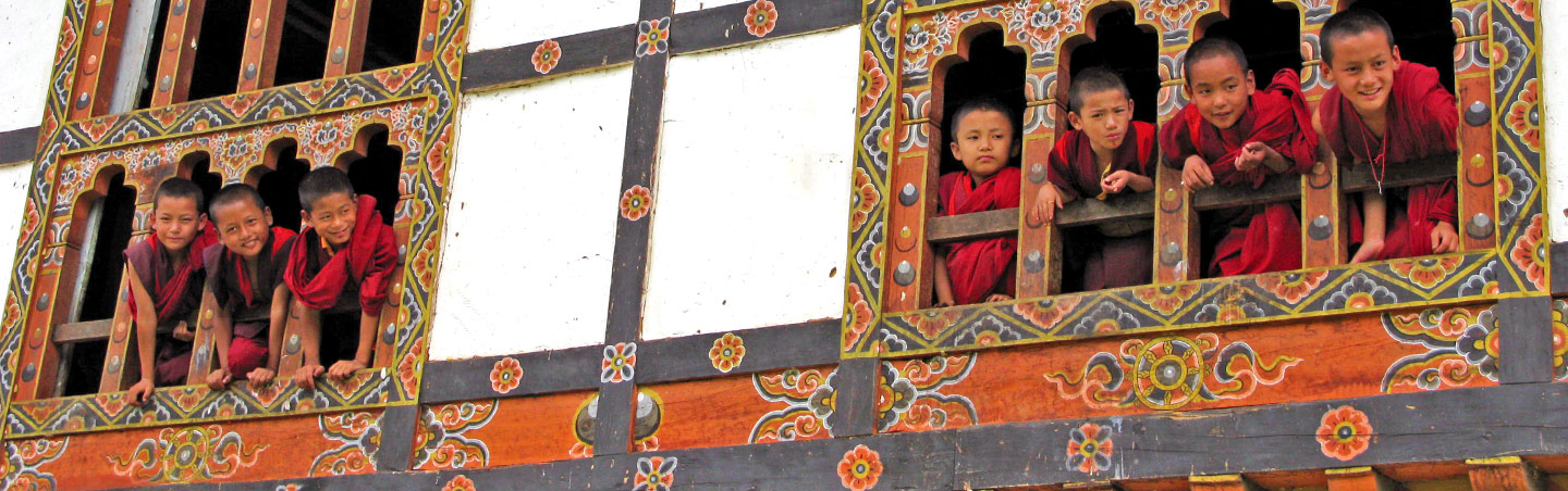 Young Buddhist Monks - Backroads Bhutan Walking & Hiking Tour