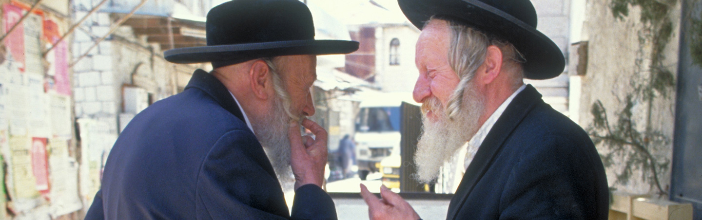Jewish men in Old Jerusalem, Israel
