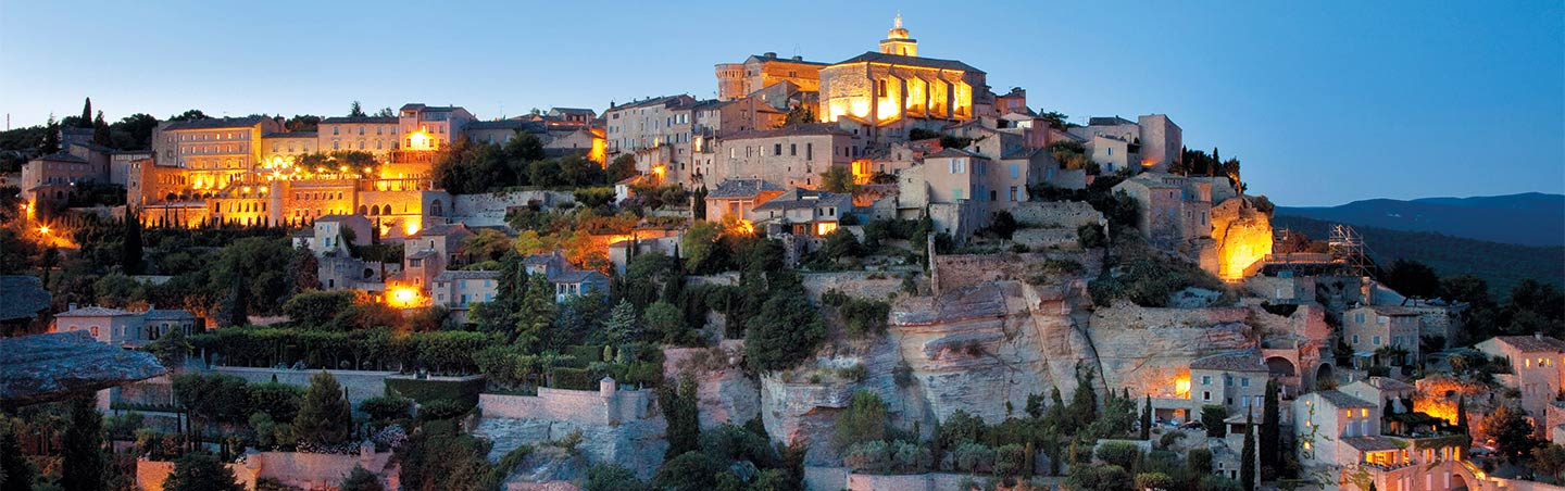 Gordes, France at Night - Provence & Costa Brava Walking Tours