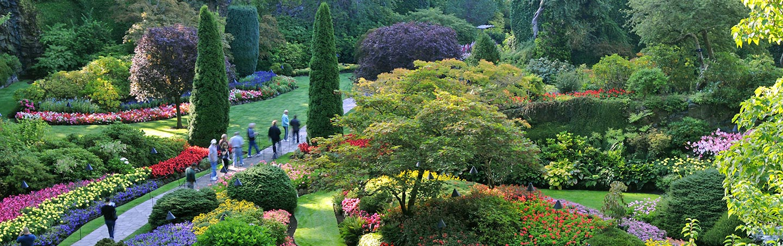 Sunken Gardens at Butchart Gardens, Vancouver Island, B.C.