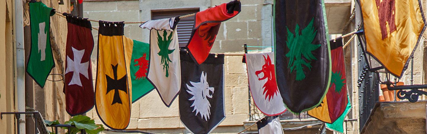 Flags on our Basque Country Family Breakaway Multisport Adventure Tour