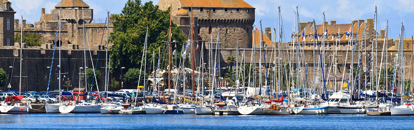 St. Malo Harbor, Brittany, France