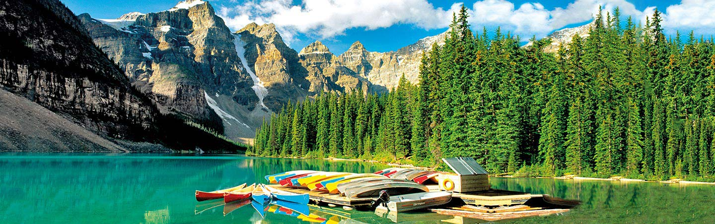 Moraine Lake - Backroads Canadian Rockies Bike Tours