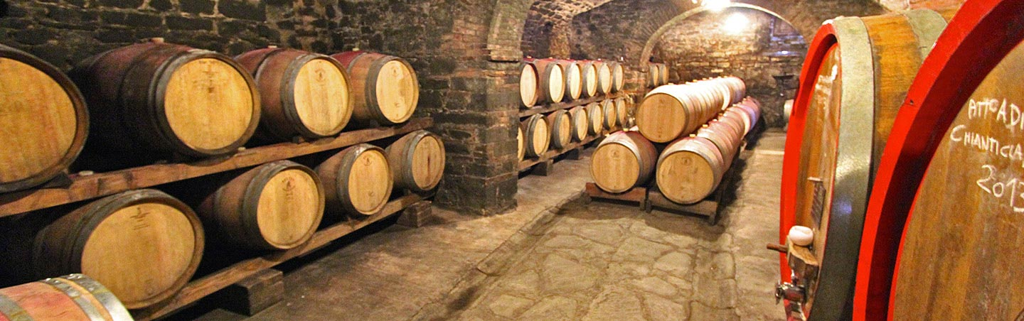 Wine barrels, Tuscany Active Culinary Walking and Hiking Tour