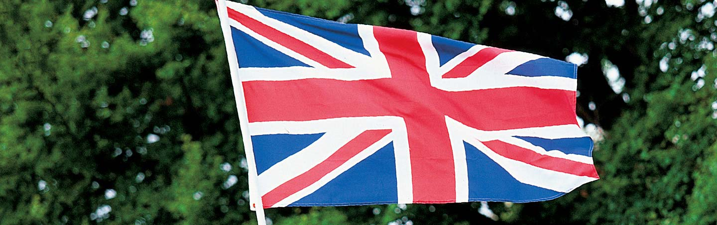 British Flag - England Walking & Hiking Tour