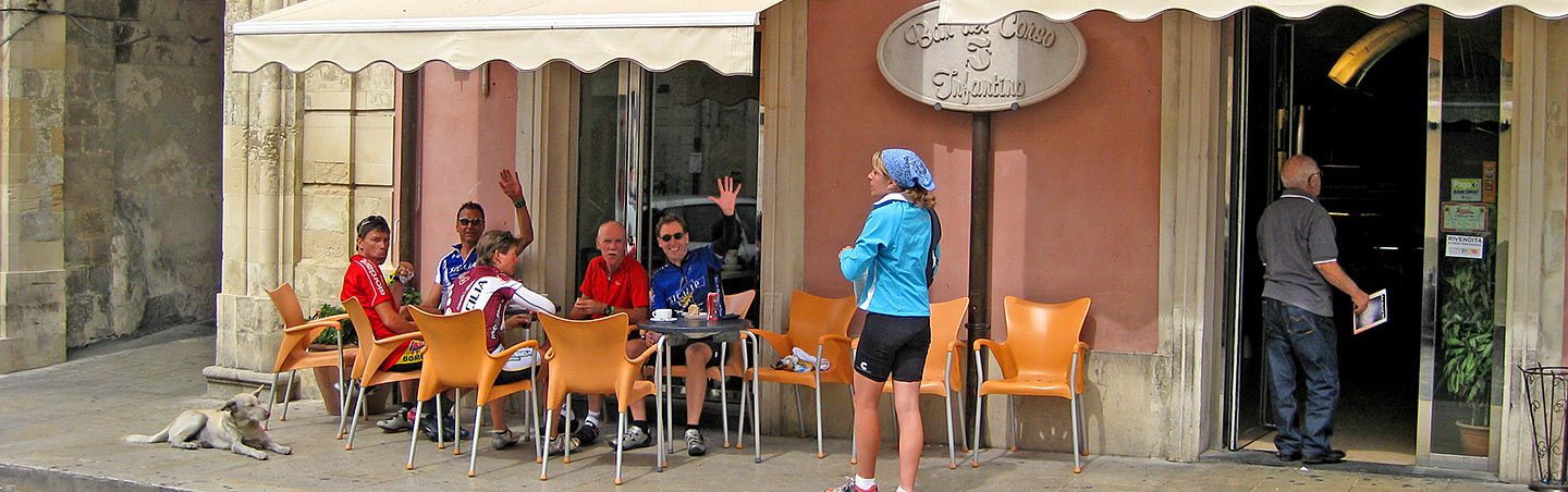 Cafe in Italy - Backroads Tuscan Coast Bike Tour