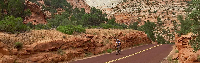 Biking on Bryce and Zion Multisport Adventure Tour