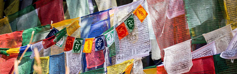 Flags in Bhutan - Backroads Bhutan Multisport Adventure Tour