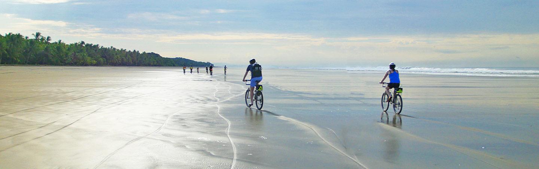 Costa Rica Family Biking on the Beach