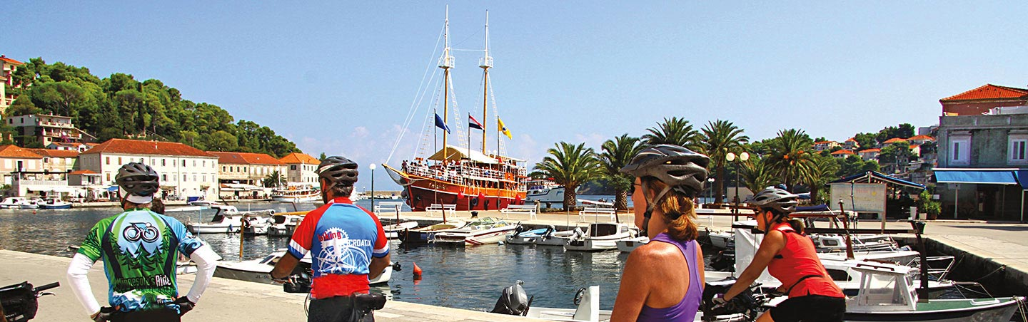 Cycling on our Dalmatian Coast to Montenegro Multisport Adventure Tour