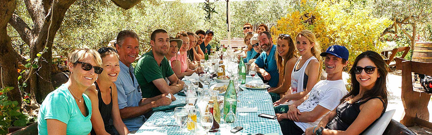 Dining on our Dalmatian Coast to Montenegro Family Breakaway Multisport Tour