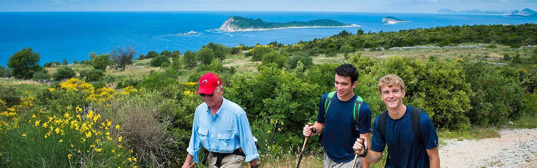Hiking on Backroads Dalmatian Coast Family Breakaway Multisport Tour