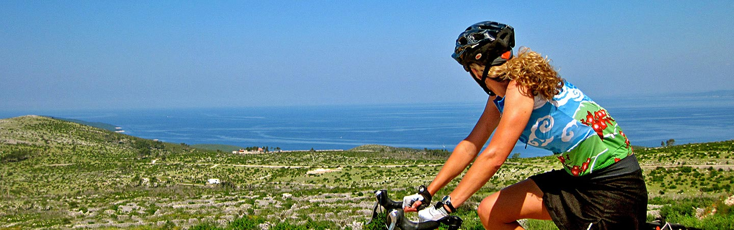Biking on our Dalmatian Coast to Montenegro Family Breakaway Multisport Tour
