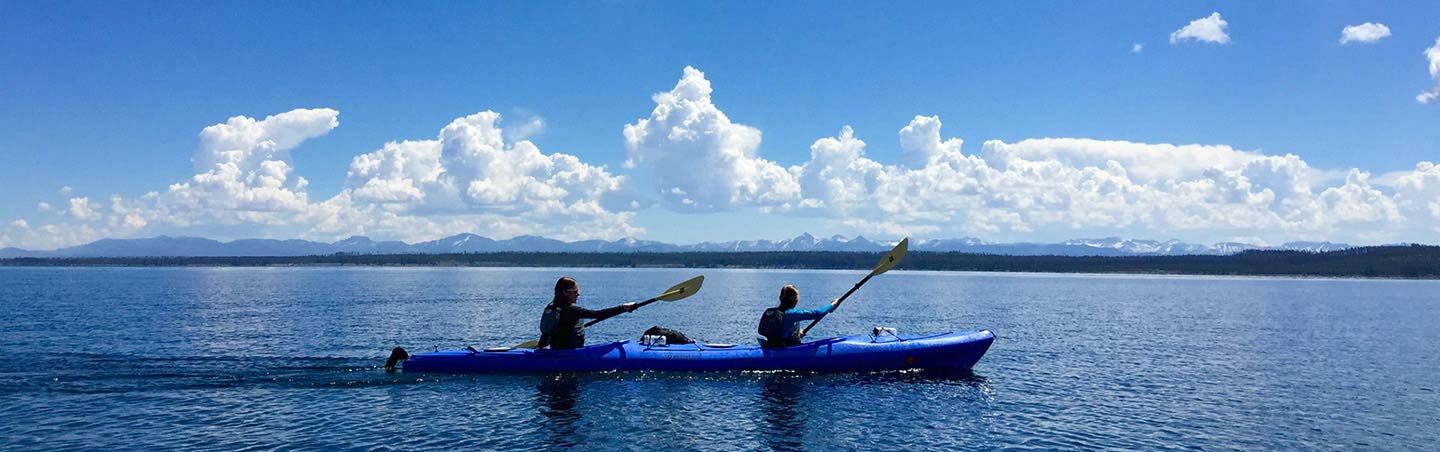 Kayaking on Backroads Yellowstone & Tetons Family Breakaway Multisport Adventure Tour