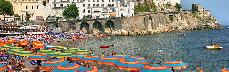 Beach on the Amalfi Coast, Italy
