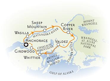 Alaska Bike Tour Map