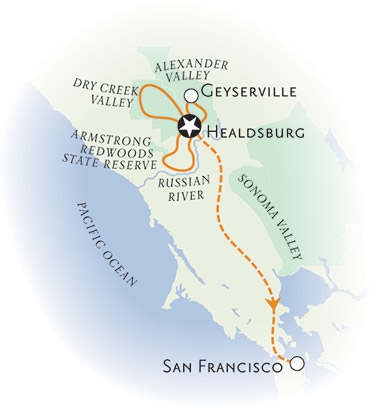 Alexander Valley California Map