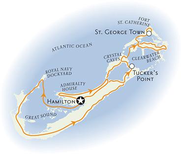 Bermuda family breakaway bike tour map