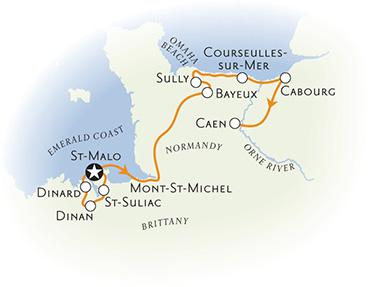 Brittany Normandy Biking Map