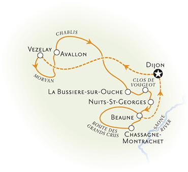 Burgundy France Map