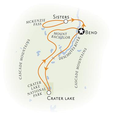 Oregon Crater Lake Map