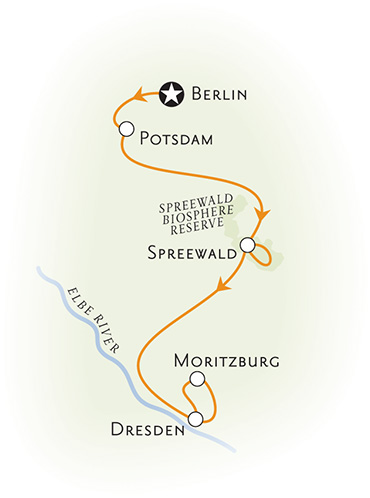 Berlin and Dresden Map