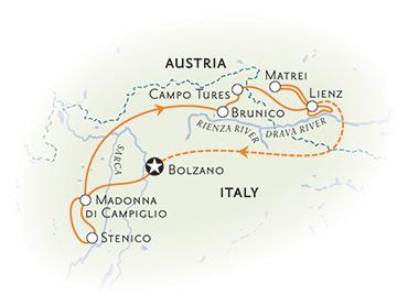 Dolomites Italy Biking Map
