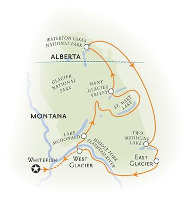 Glacier Montana Biking Map