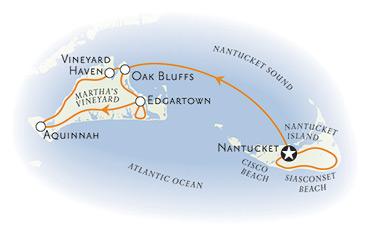 Martha's Vineyard Nantucket Map