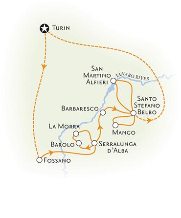 Piedmont Italy Map
