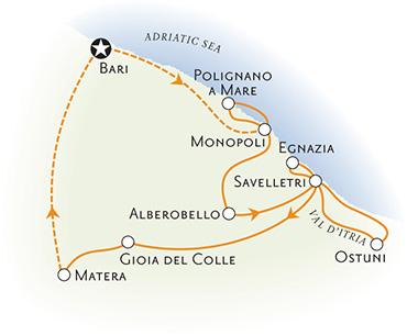 Puglia Italy Biking Map