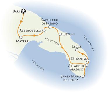 Puglia Italy Map