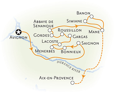 Provence Biking Map