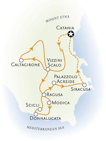 Sicily Italy Biking Map