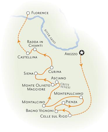 Tuscany Italy Map