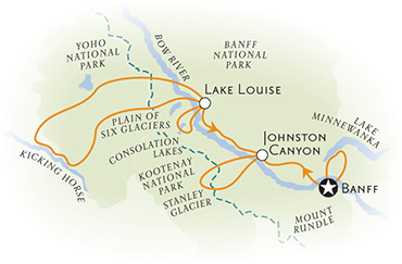 Canadian Rockies Map
