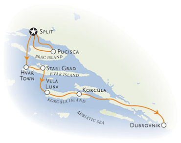 Dalmation Coast Map
