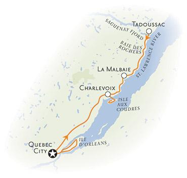 Quebec multisport Map