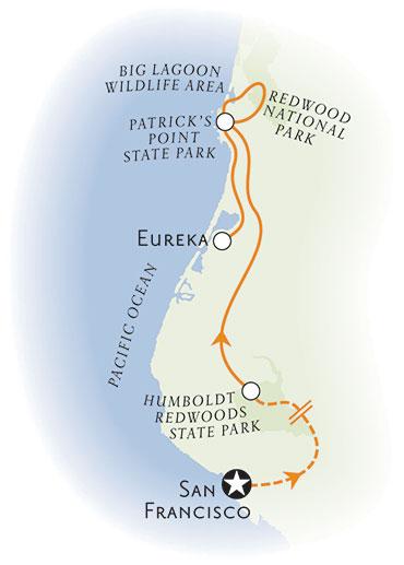 Redwood Empire Map