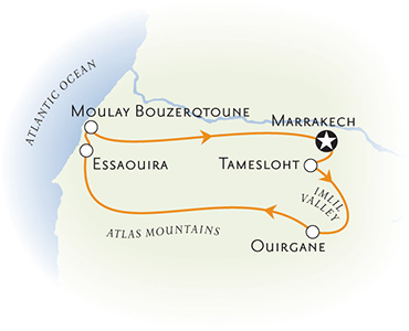 Morocco Multisport Adventure Tour Map