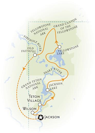 Yellowstone Wyoming Map