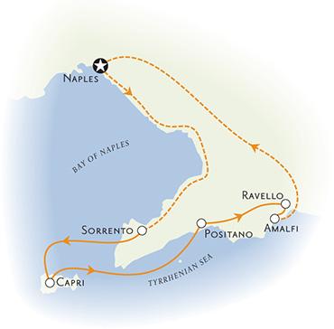 Amalfi Coast Italy Map