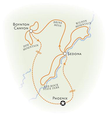 Sedona Walking and Hiking Tour Map