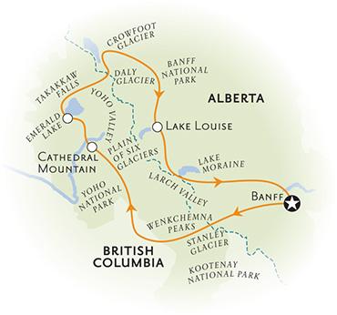Canadian Rockies Walking Tour Map