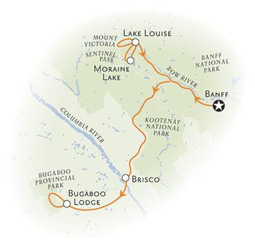 Canadian Rockies Heli-Hiking Tour Map