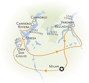 Italian Lakes Map