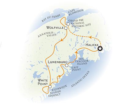 Nova Scotia Walking Tour Map