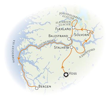 Norway walking tour map
