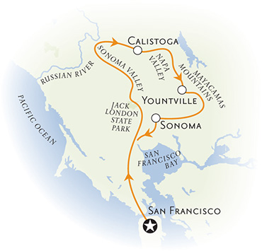 Wine Country walking and hiking map