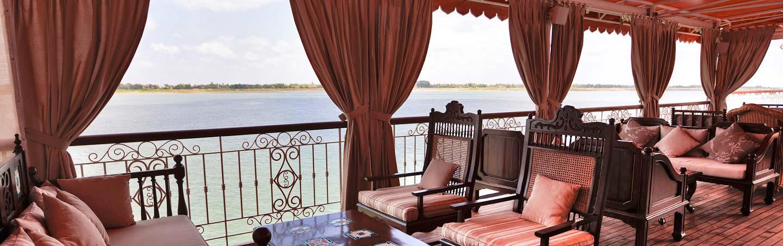 Mekong River Cruise Ship on Backroads Vietnam, Cambodia & Laos River Cruise Bike Tour